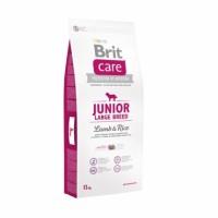 Brit Care Junior Large Breed - корм для щенков крупных пород, ягненок с рисом.