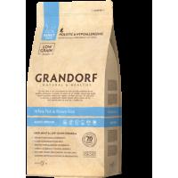 Грандорф беззерновой корм для кошек всех пород (сенситив) - белая рыба с бурым рисом