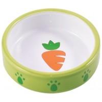 КерамикАрт миска керамическая для грызунов 70 мл Зеленая с морковью Артикул: 211079