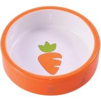 КерамикАрт миска керамическая для грызунов 70 мл Оранжевая с морковью Артикул: 211086