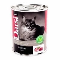 Консервированный корм Darsi  для взрослых кошек паштет , 340г