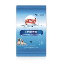 Cliny влажные гигиенические салфетки, 10 шт