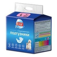 Cliny подгузники для собак и кошек 8–16 кг (размер L), 8 шт