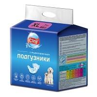 Cliny подгузники для собак и кошек 15–30 кг (размер XL), 7 шт