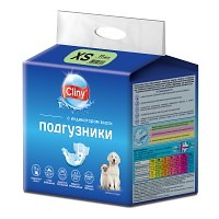 Cliny подгузники для собак и кошек 2–4 кг (размер XS),11 шт