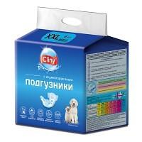 Cliny подгузники для собак и кошек 25 - 40кг (размер XXL), 6 шт