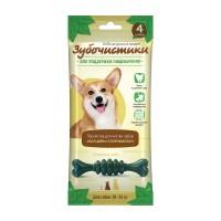 """ЗУБОЧИСТИКИ """"Мятные"""" лакомство с хлорофиллом для собак средних пород 10-25 кг набор 4шт"""