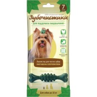 """ЗУБОЧИСТИКИ """"Мятные"""" лакомство с хлорофиллом для собак мелких пород до 10 кг набор 7шт"""