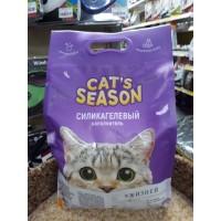 """Наполнитель силикагелевый CAT""""S SEASON , 3,8 л   НОВИНКА!!!"""