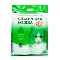 Наполнитель силикагелевый Сибирская Кошка Элитный ЭКО зеленые гранулы.