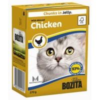 BOZITA FELINE MINCED CHICKEN- мясные кусочки в желе с рубленной курицей.