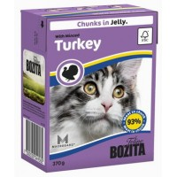 BOZITA FELINE MINCED TURKEY - мясные кусочки в желе с рубленной индейкой.