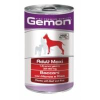 Gemon Dog Maxi - консервы для собак крупных пород кусочки говядины с рисом.