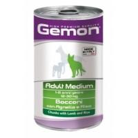 Gemon Dog Medium - консервы для собак средних пород кусочки ягненка с рисом.