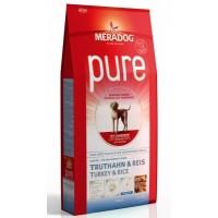 MERADOG PURE JUNIOR TURKEY & RICE - Корм для растущих собак, а также кормящих сук (подходит собакам с проблемами в питании и/или аллергиями), ИНДЕЙКА И РИС.