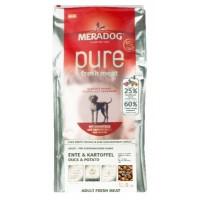 MERADOG РURE FRESH MEAT ENTE & KARTOFFEL - Беззерновой корм (холистик), со свежей УТКОЙ И КАРТОФЕЛЕМ.