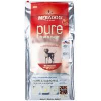 MERADOG PURE FRESH MEAT HUHN & KARTOFFEL - Беззерновой корм (холистик), со свежей КУРИЦЕЙ И КАРТОФЕЛЕМ.