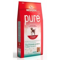 MERADOG PURE TYRKEY & RICE - Корм для взрослых собак (подходит собакам с проблемами в питании и/или аллергиями), ИНДЕЙКА И РИС.