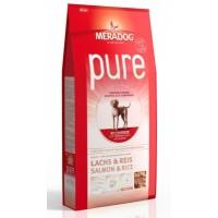 MERADOG PURE SALMON & RICE - Корм для взрослых собак (подходит собакам с проблемами в питании и/или аллергиями), ЛОСОСЬ И РИС.