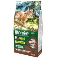 Monge BWild Cat GRAIN FREE беззерновой корм из мяса буйвола для крупных кошек всех возрастов