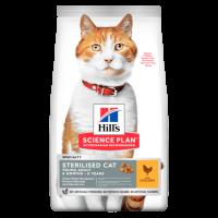 Hills Sterilised Cat - сухой корм  для стерилизованных кошек 6мес- 6лет, курица.